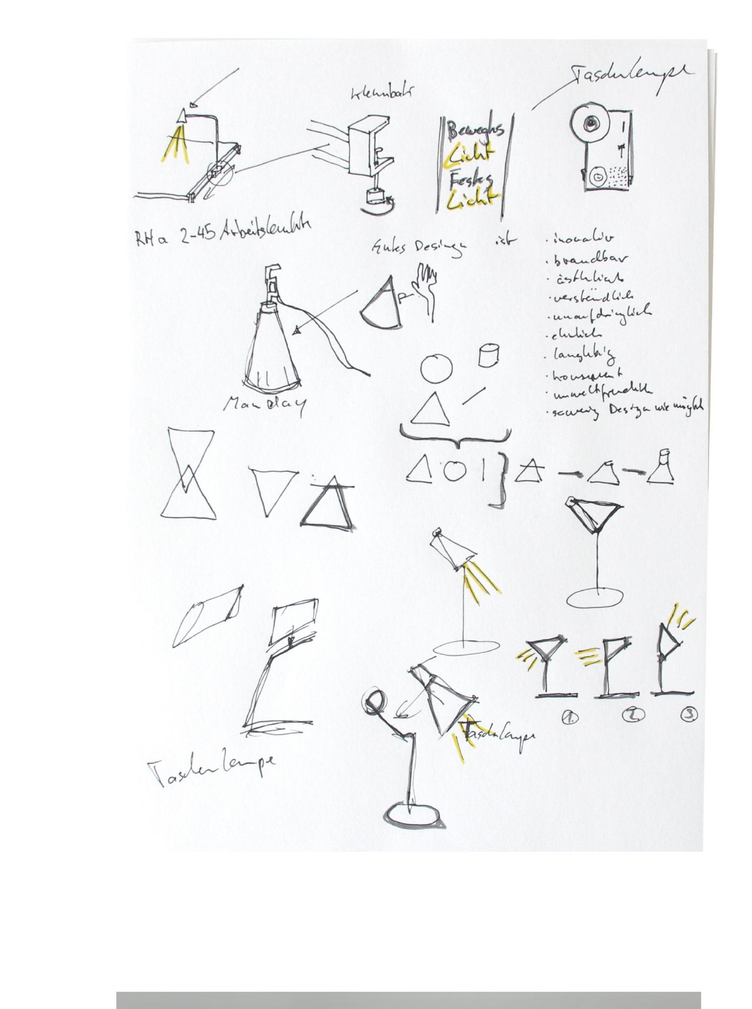 Sebastian Klawiter bewegtes Licht Produktdesign skizzen