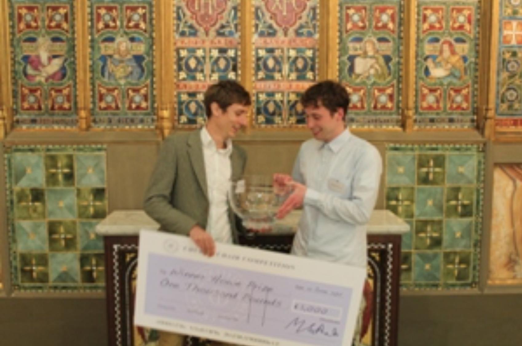 Sebastian Klawiter Nicholas Shurey church chair competition church of england