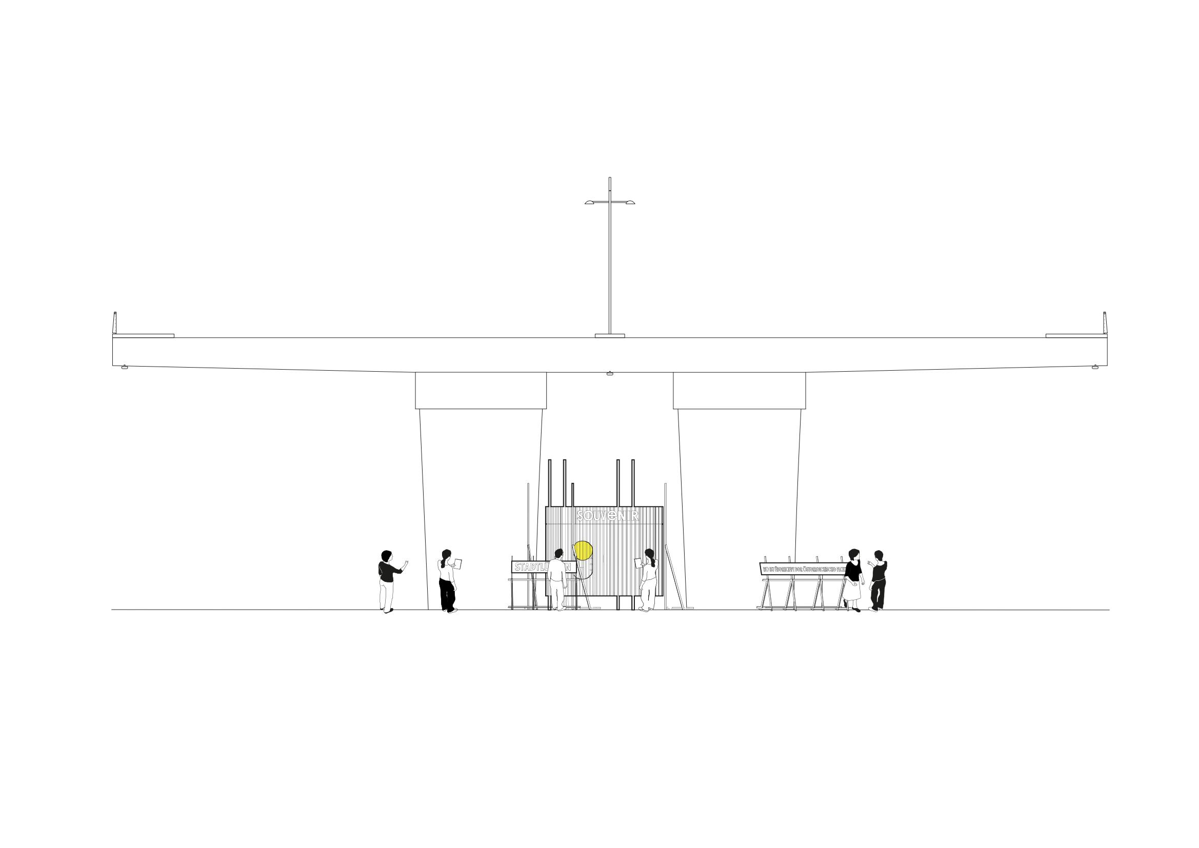sebastian klawiter Stadtlücken e.V. 2017 Stuttgart Lücken Österreichischer Platz Paulinenbrücke Intervention