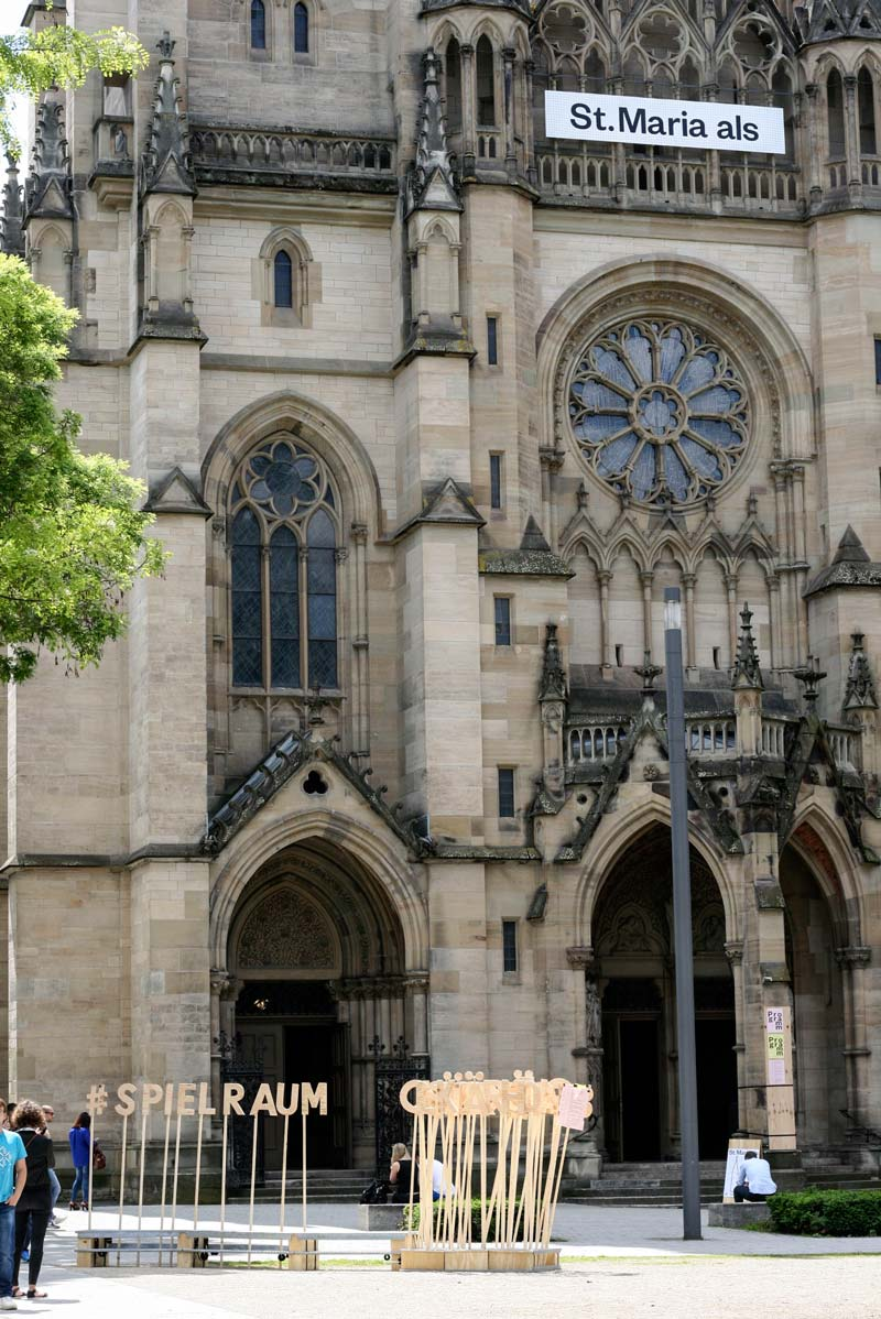 st maria als prozess sebastian klawiter stuttgart katholische kirche stadtraum prozess
