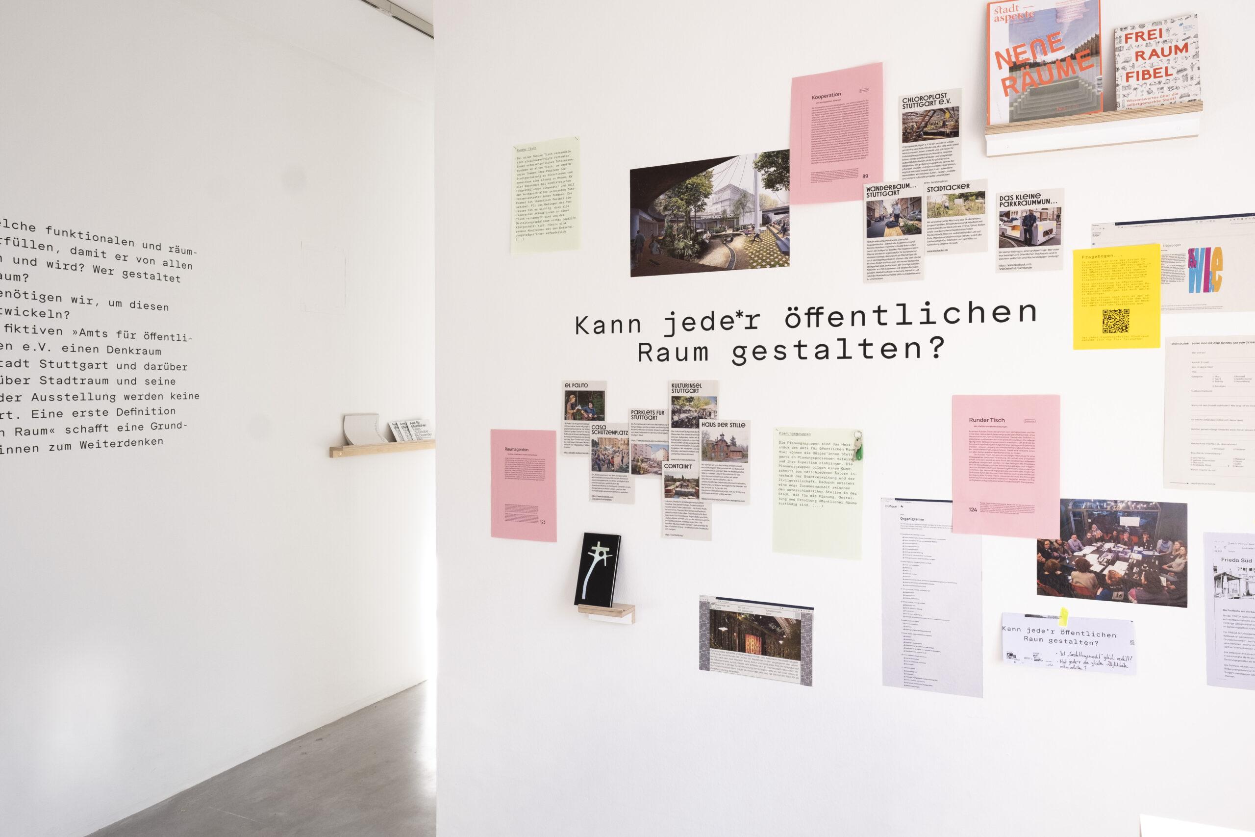 Sebastian Klawiter Amt für öffentlichen Raum Ausstellung Gallerie am Weißenhof Stuttgart Stadtplanung architektur